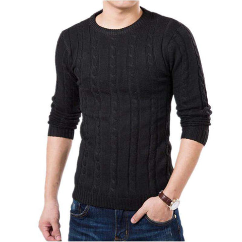 Casual Sweater O-Neck Slim Fit Knitting Men cardigens