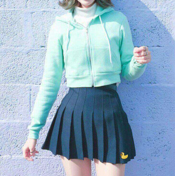 Embroidered Pleated College Wind Causal Cute Fresh Female Skirt