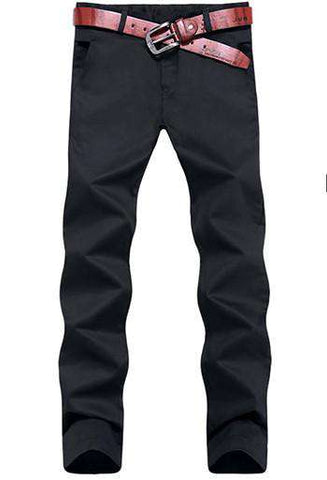 Casual Cotton Washed Straight Men's High Quality Slim Fit Pants