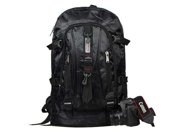 Casual Military Black Backpack Men's Double Shoulder Bags