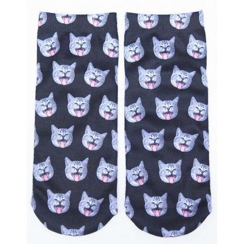 Carton Cat Animal Funny Socks Women
