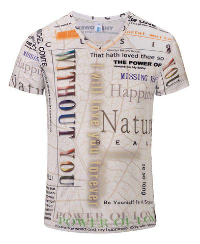 3d men's t-shirt summer novelty
