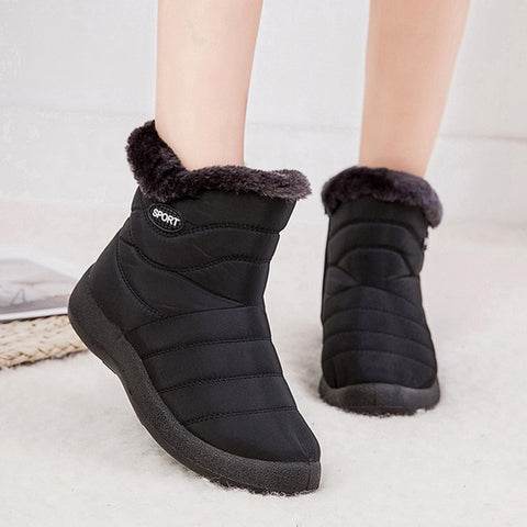 Waterproof Warm Ankle Boots Women