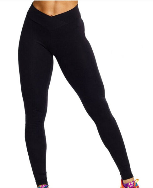 Women Yoga Pants Skinny High Waist Elastic Fitness
