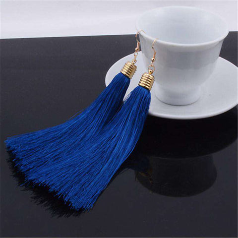 exaggerated vintage original tassel earrings for women
