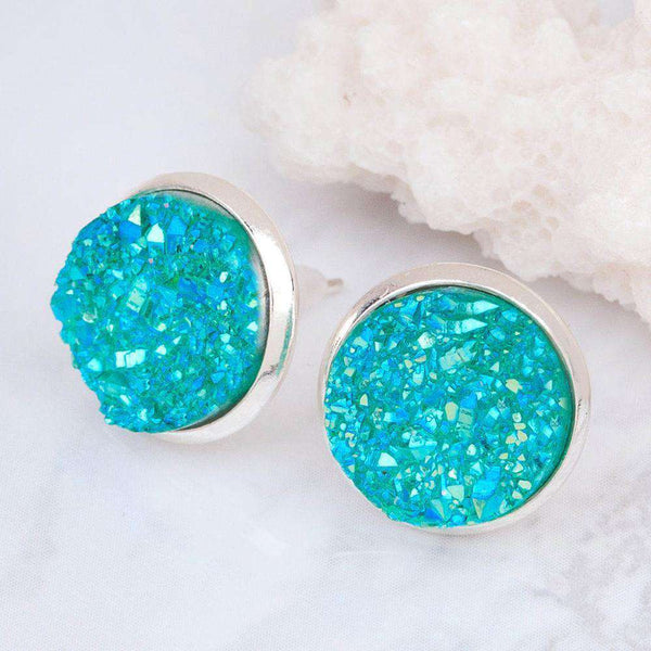 Cabochon Round Earrings Fashion Trendy Woman