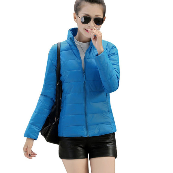 Women Long Sleeve Zipper Jacket Outwear