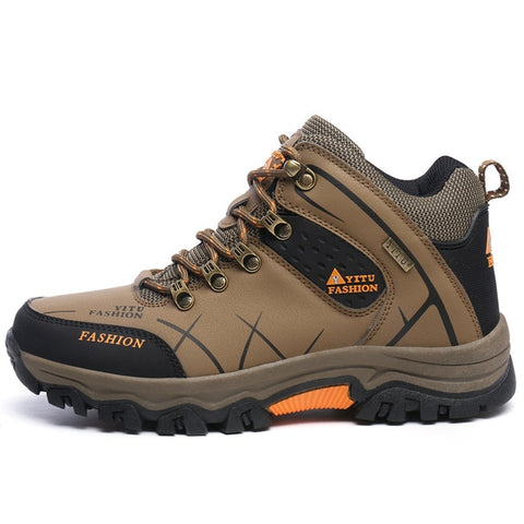 Waterproof Hiking Leather Ankle Winter Boots