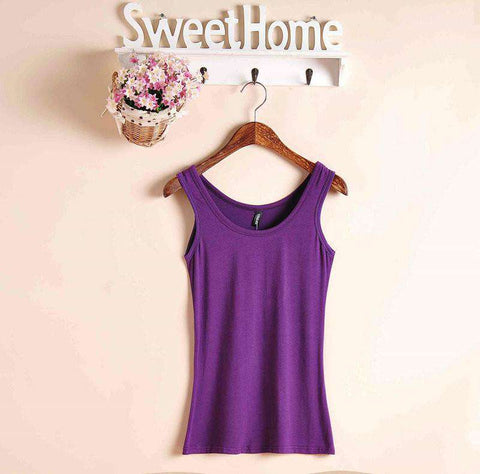 Casual Women's Sleeveless Tank Tops Cotton Sleeveless