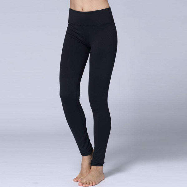 Women Elastic Waist Skinny Pencil Leggings