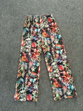 Wide Floral Casual Harem Pants High Waist Loose Elastic Palazzo Trousers