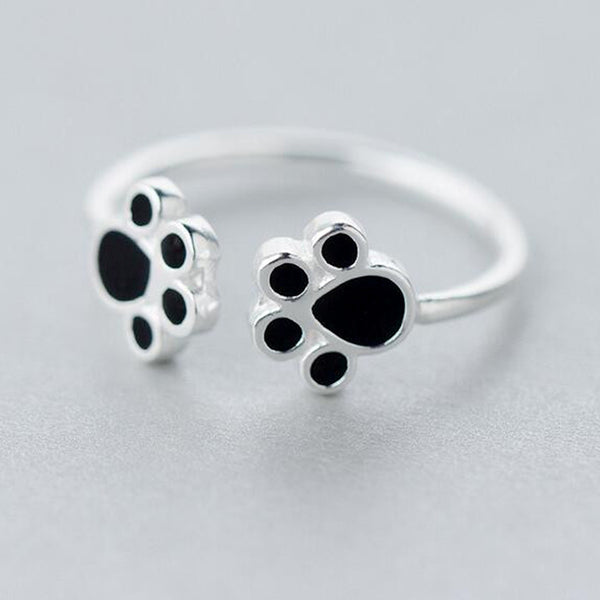 Sterling Silver Dog Paw Ring for women