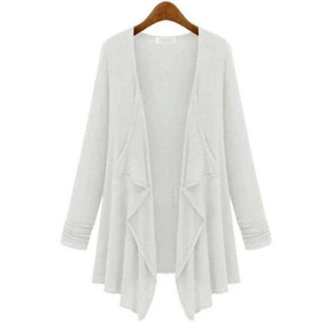Casual Loose Long Irregular Women Coat Poncho Cardigan