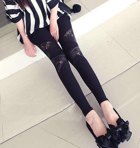 Leather Workout Leggings Hot Charming For Women