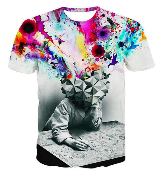 Printed 3D T-Shirts, Punk Short Sleeve