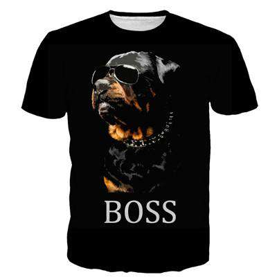 Black Women Hound Dog Printed Shirt