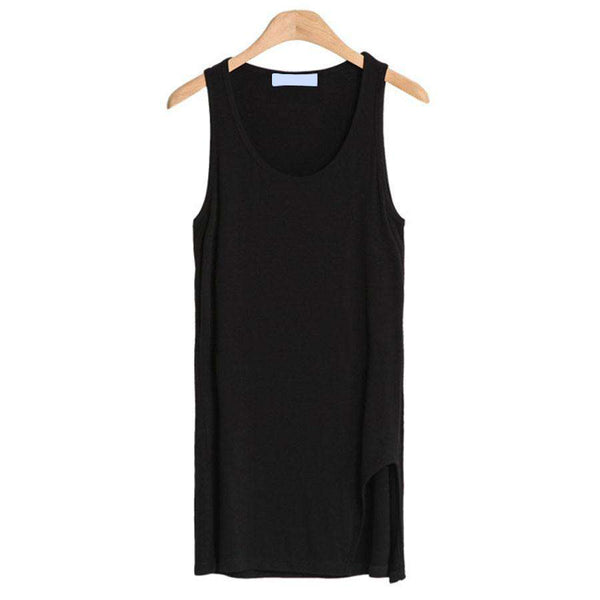 Women Modal Casual Long Tanks Tops Sleeveless Solid Vest Beautiful
