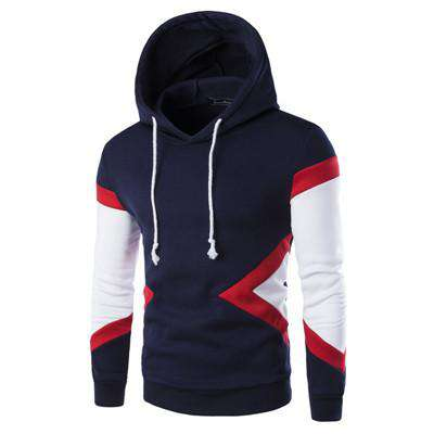 Mens Casual Slim Fit Hooded Hoodies Sweatshirt Sportswear