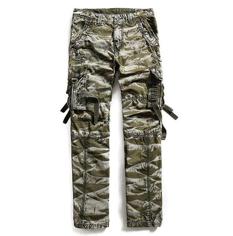 Casual Men Pants Loose Multi Pockets Camouflage pants