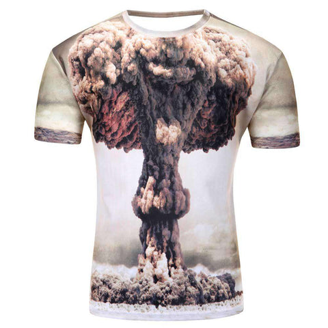 galaxy space 3D t shirt short sleeve summer shirts for men