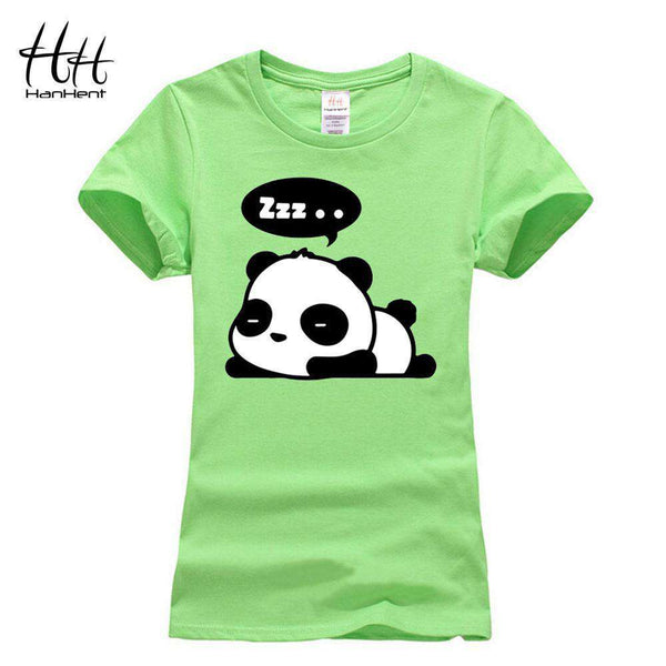 Panda Print T shirt Women Short Sleeve