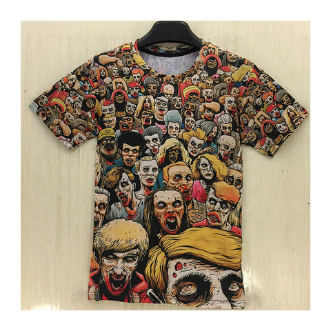 Zombie Printed Men's Short Sleeve 3D T Shirt