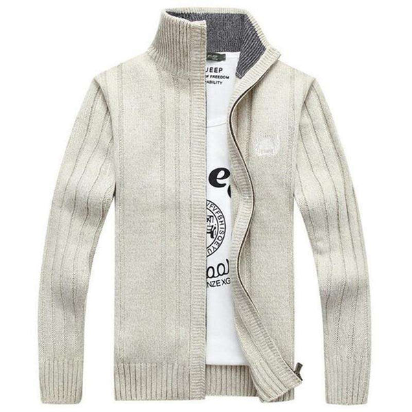 casual men warm winter leisure cardigan sweater