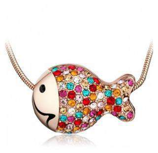 Crystal Colorful Fish Nacklace