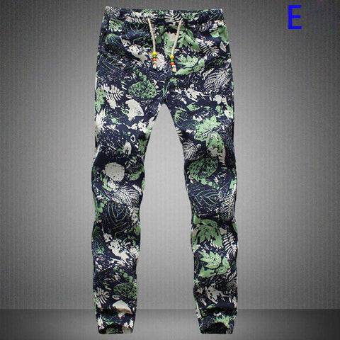 Casual Decorated Harem Mens Joggers Long Style