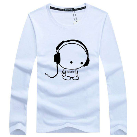 Long Sleeve Men T Shirts Pure Cotton Fashion Brand Designer