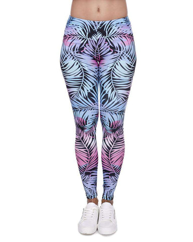 Leaves 3d Printed Women's Girl's Leggings Basic