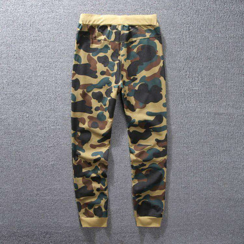 Camouflage Joggers Elastic Waist Men summer long Shark Trousers