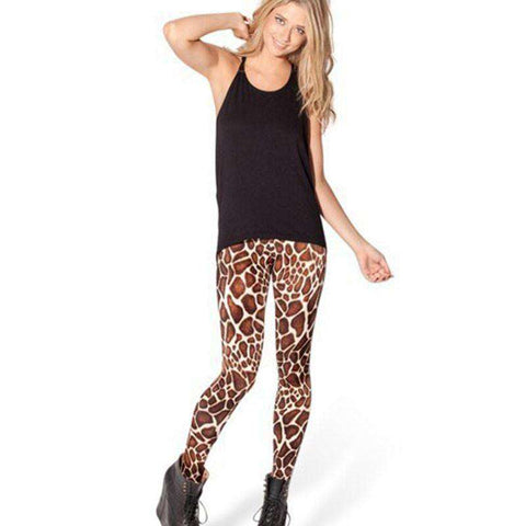 Black 3D Leopard Print Leggings