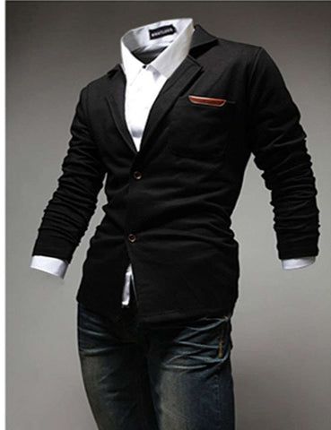 Casual Suit Blazers Slim Fit Regular Single Breasted Men Suit