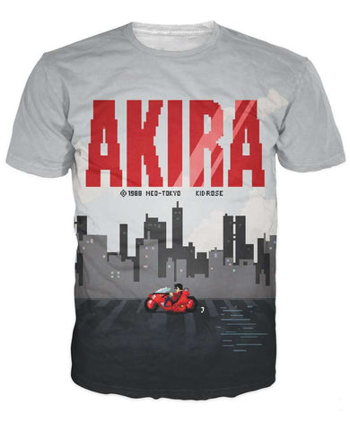 Akira T-Shirt 3D Print Women Summer Casual Short Sleeve