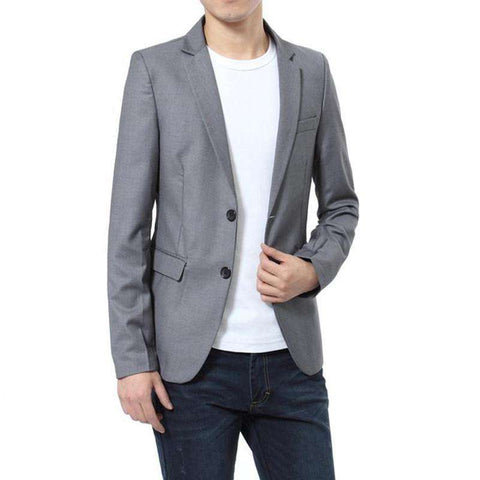 Casual Vintage Slim Fit Business Blazer Men
