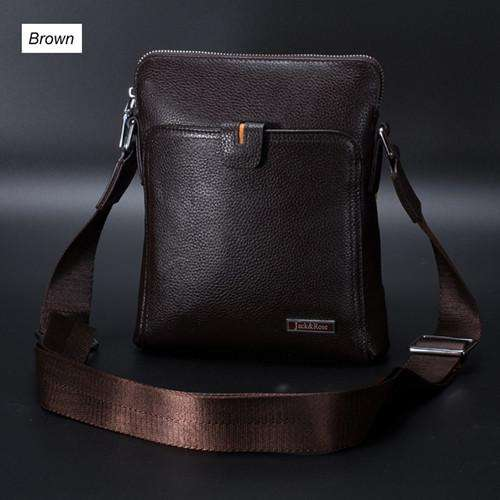 100% Genuine Leather Men's Messenger Bag
