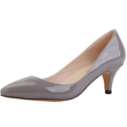 Classic Sexy Pointed Low Med Kitten Heels Women
