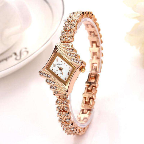 Bracelet Gemstone Wristwatch Women