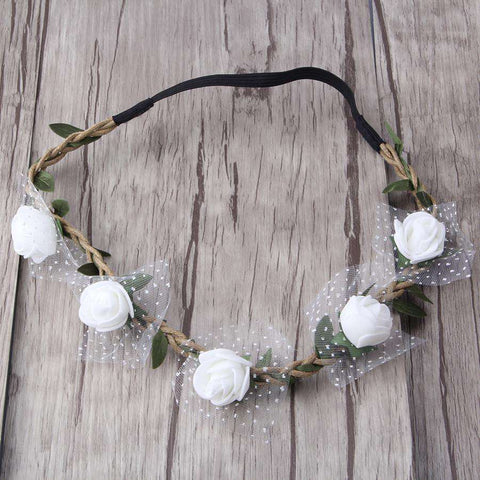 Flower Headband Princess Bride Garland Artificial for women