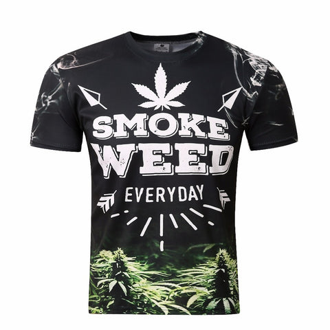 Some Weed Everyday Print Men 3D Casual Tee