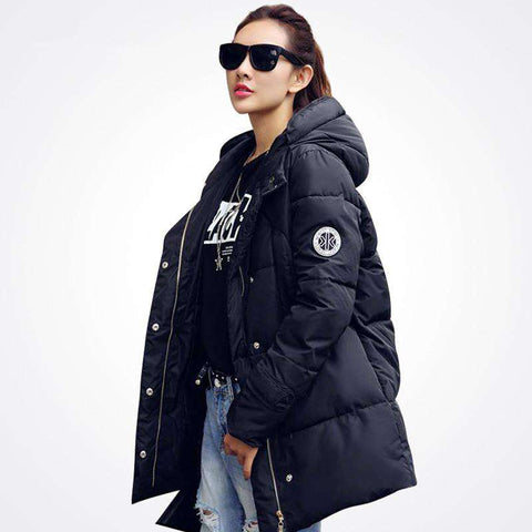 Casual Women's Winter Jacket Down Outerwear