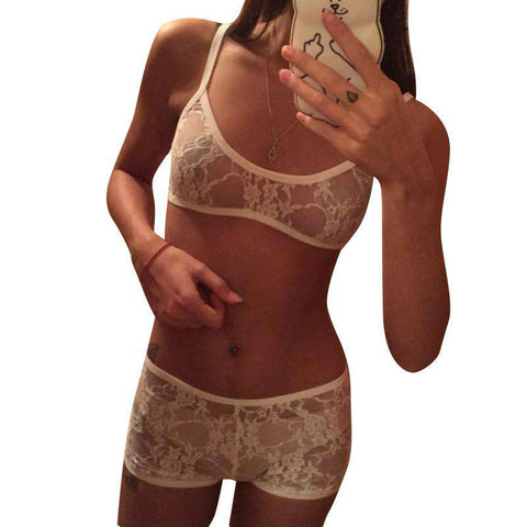 15f0b9515 Lace Bra Set Wireless Cups Brassiere Fashion Eyelash Bralette ...