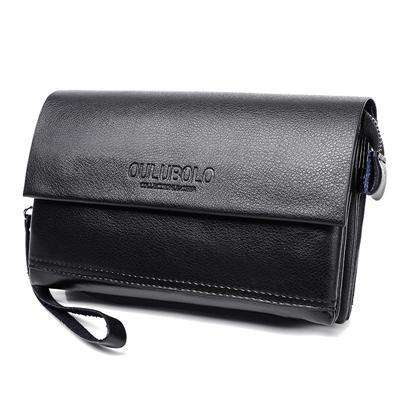 Genuine Leather Men's Standard Long Wallet Bags