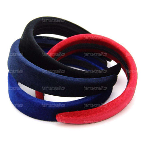 Headbands 2.5CM Wide Padded Solid Color Broadside Hairband Women