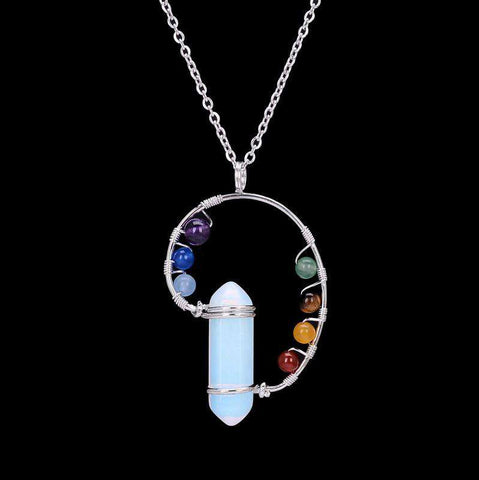 7 Chakra Natural Stone Necklace & Pendants