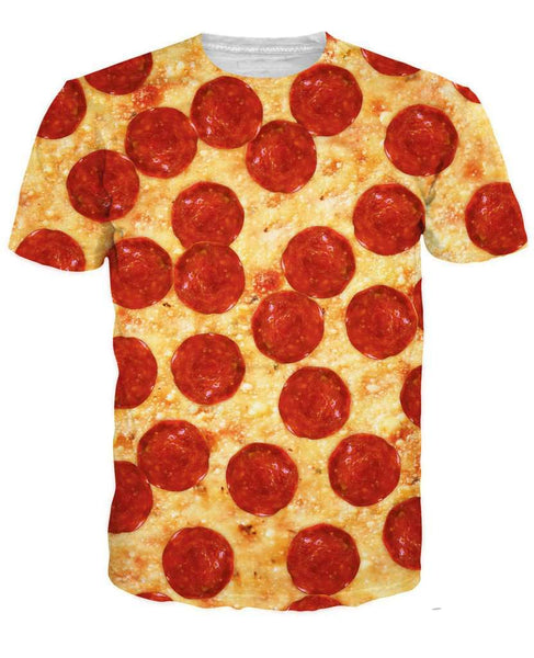 Casual Short t shirt Pizza for Women