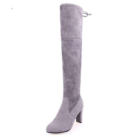 Fashion Over The Knee Suede Boots