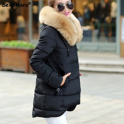Womens Winter Jackets  Hooded Long  Outerwear