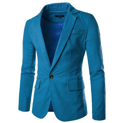 Casual Blazer Mens Business Slim Fit